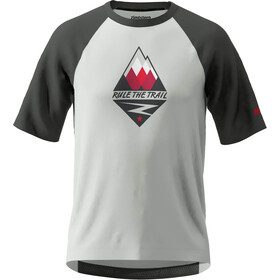 Zimtstern PureFlowz SS Shirt Men glacier grey/gun metal/cyber red
